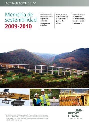 Memoria de Sostenibilidad 2009-2010 - FCC Construcción