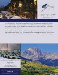 meetings fact sheet - Destination Resorts Snowmass