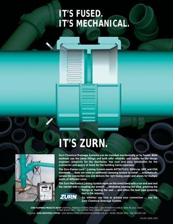 it's zurn. it's fused. it's mechanical.