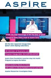 HE Minister of Economy and Finance inaugurates 3rd ... - Aspire Zone