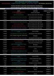 2013 Event Calendar - BaseballSoftballUK