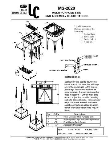 zurn flush valve installation instructions