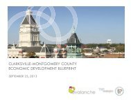 CLARKSVILLE-MONTGOMERY COUNTY ECONOMIC DEVELOPMENT BLUEPRINT