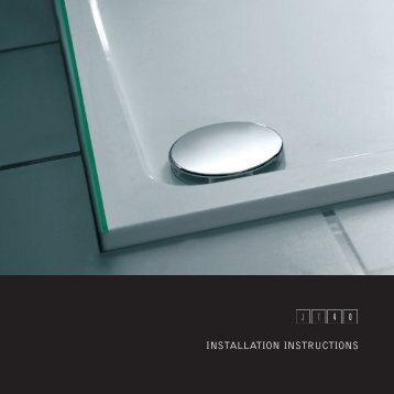 JT40 Shower Tray Installation Instructions (pdf)