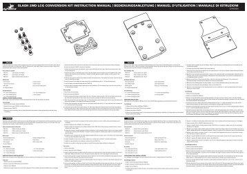slash 2wd lcg conversion kit instruction manual - Dynamite RC