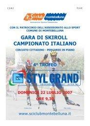 GARA DI SKIROLL CAMPIONATO ITALIANO - Skiroll.it