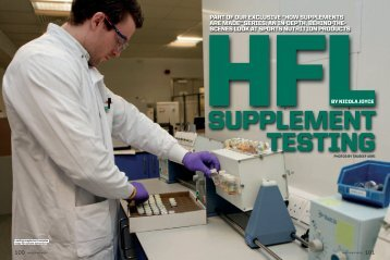 HFL Supplement Testing in Muscle & Fitness - Informed-Sport