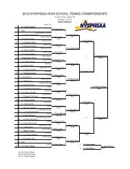 2012 nysphsaa high school tennis championships - New York State ...