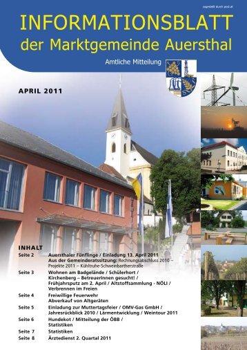 April 2011 - Marktgemeinde  Auersthal