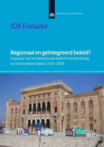 """""""IOB - Evaluatie van het Nederlandse beleid ... - Rijksoverheid.nl"""