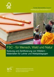 FSC - für Mensch, Wald und Natur