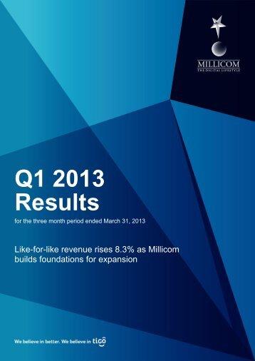 Q1 2013 Results - Millicom