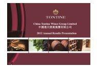 China Tontine Wines Group Limited 中國通天酒業 ... - TodayIR.com