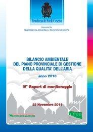 Report monitoraggio anno 2010 (pdf 2.301 KB) - Provincia di Forlì ...