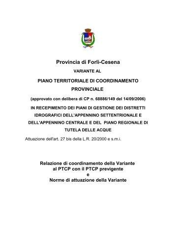 piano territoriale di coordinamento provinciale - Provincia di Forlì ...