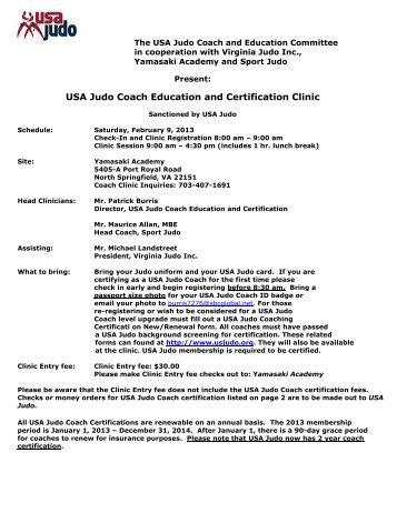 The USA Judo Coach and Education Committee - Shufu Judo