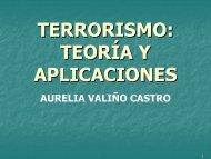 TERRORISMO: TEORÍA A Y APLICACIONES