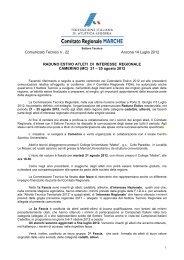 Comunicato Tecnico n . 22 Ancona 14 Luglio 2012 ... - ASA ASCOLI