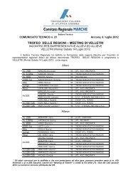 Comunicato n. 21/2012 - ASA ASCOLI