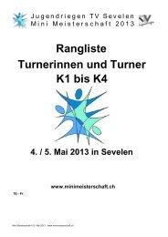 Jugendriegen TV Sevelen Mini Meisterschaft 2013 - STV Steinach