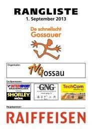 Rangliste DSG 2013 - Getu Gossau