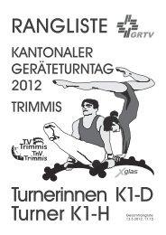 Ranglisten - Turnvereine Trimmis