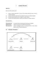 I Oxidation Reactions I.A. Oxidation of Alcohols