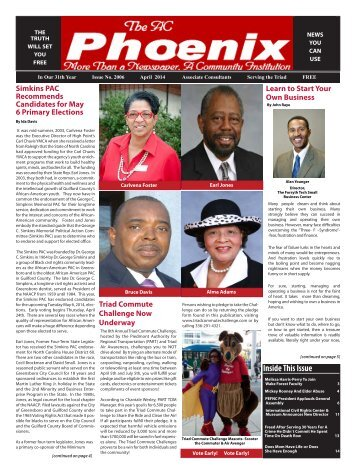 The AC Phoenix: More than a Newspaper, a Community Institution -- Issue No. 2010, April 2014