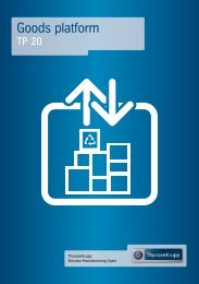 View the pdf catalog - ThyssenKrupp Elevator Manufacturing Spain