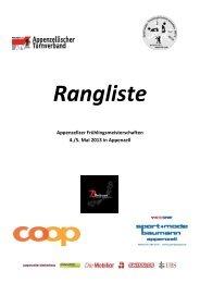 Rangliste 2013 - Getu Appenzell Gais
