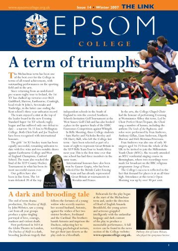 Issue 14 Winter 2007 - Epsom College