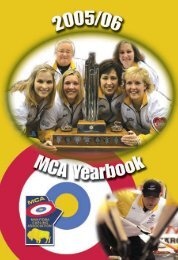 Table Of Contents - Manitoba Curling Association