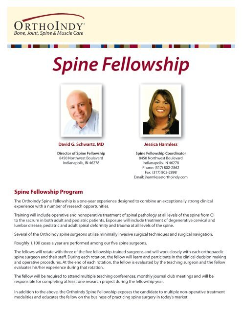 Non Operative Pediatric Orthopedics Fellowship