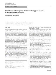 Pain relief by extracorporeal shockwave therapy: an ... - Springer