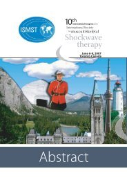 Abstracts - ISMST - International Society for Medical Shockwave ...
