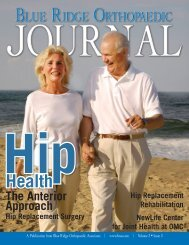 Hip Health - Blue Ridge Surgery Center