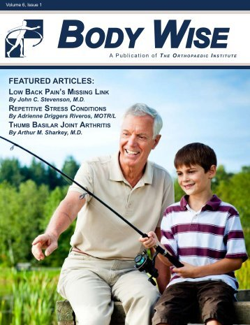 Download the latest Body Wise, Volume 6, Issue 1