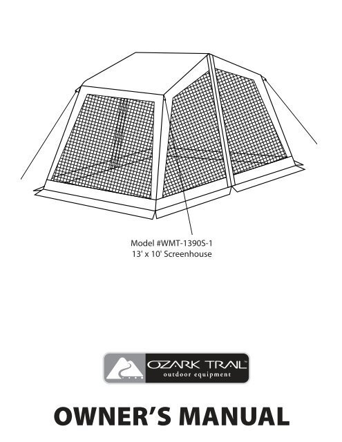 WMT-1390S-1 13 - Find Ozark Trail Tents