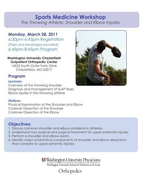 Sports Medicine Workshop - Washington University Orthopedics
