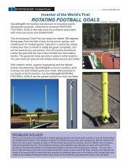 Rotating Football Goal - SportsEdge