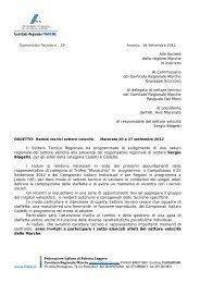 Comunicato n. 29/2012 - ASA Ascoli