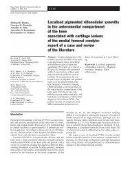 Localized pigmented villonodular synovitis in the ... - Springer