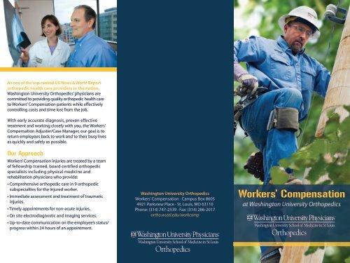 Workers' Compensation - Washington University Orthopedics