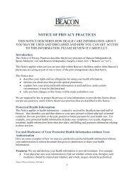 Privacy Policy - Beacon Orthopaedics