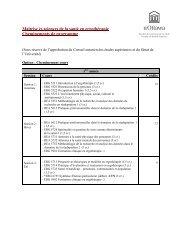 Maîtrise ès sciences de la santé en ergothérapie Cheminements de ...