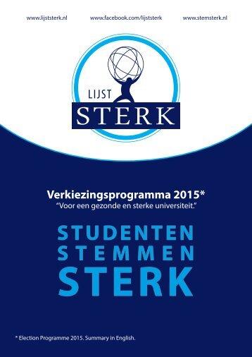 Verkiezingsprogramma-Lijst-STERK-Universiteitsraad-2015-2016