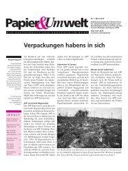 Papier Umwelt - FUPS