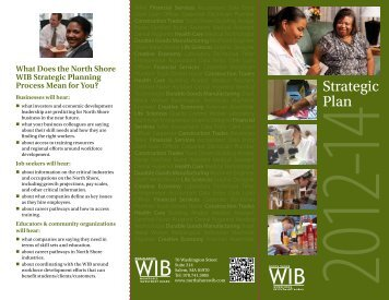 Strategic Plan Flyer 2012 - North Shore Workforce Investment Board