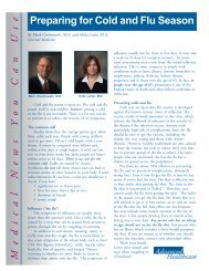 Preparing for Cold and Flu Season - Advanced Healthcare
