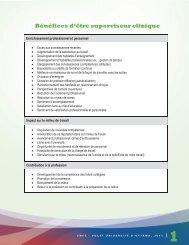 Bénéfices d'être superviseur clinique - Faculté des sciences de la ...
